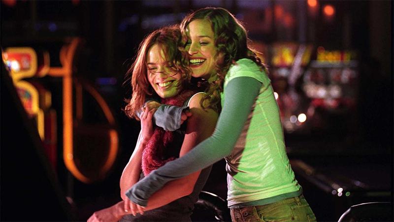 Luce and Rachel hug