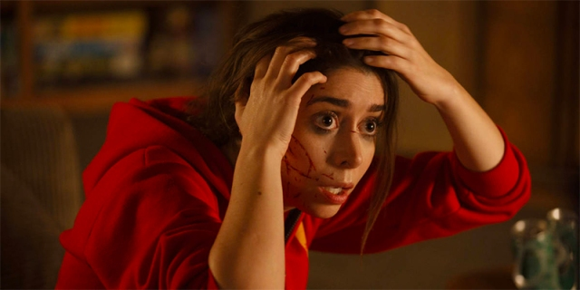 Cristin Milioti as Hazel in Made For Love realizes she has a surveillance chip in her head