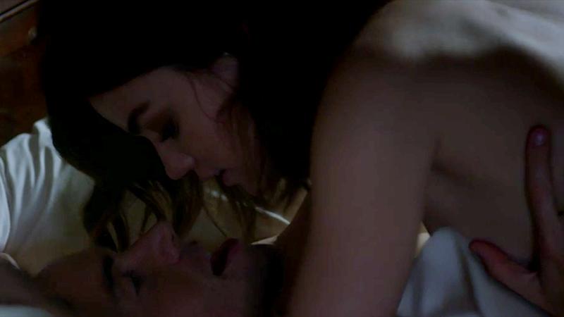 Aria and Ezra having sex