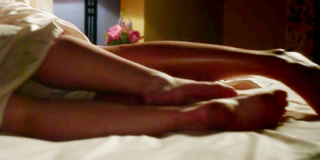 Emily and Alison's feet touching