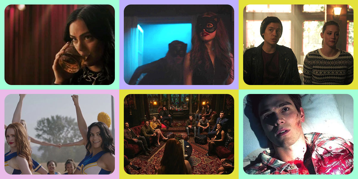 Collage feature image showing scenes from Riverdale