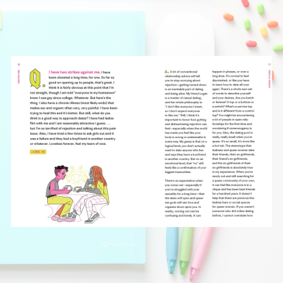 Image shows the text of question asked by a reader, and behind it there is another image of a notebook, pens and jelly beans.