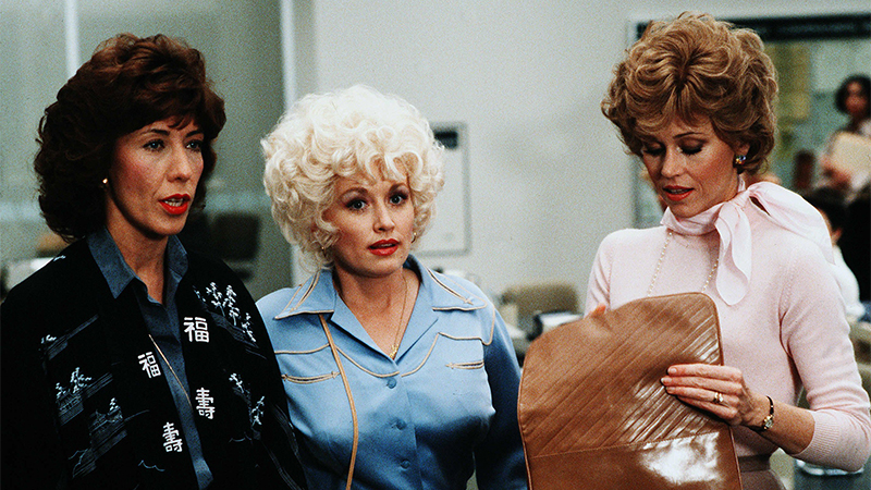 Lily Tomlin, Dolly Parton, and Jane Fonda in 9 to 5