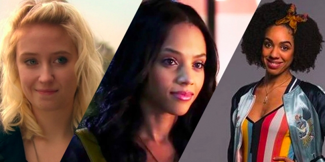 A three-photo collage: Naomi from Skins, Maya from Pretty Little Liars, Bill from Doctor Who