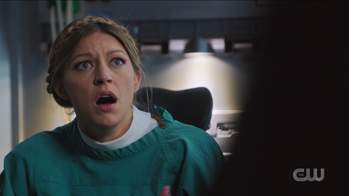 Legends of Tomorrow Episode 604: Ava looks horrified.