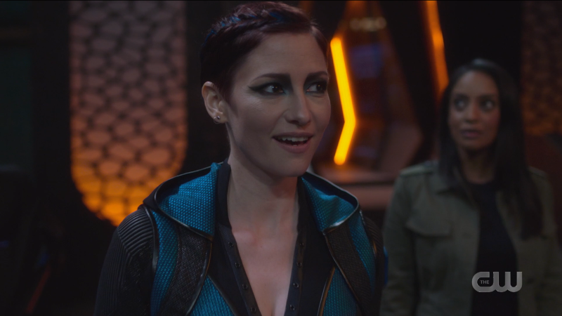 Supergirl Episode 607: Alex looks excited the Tower is a ship.
