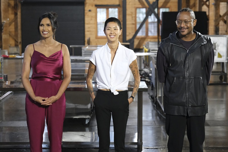Padma, Kristen and Gregory introduce Restaurant Wars!
