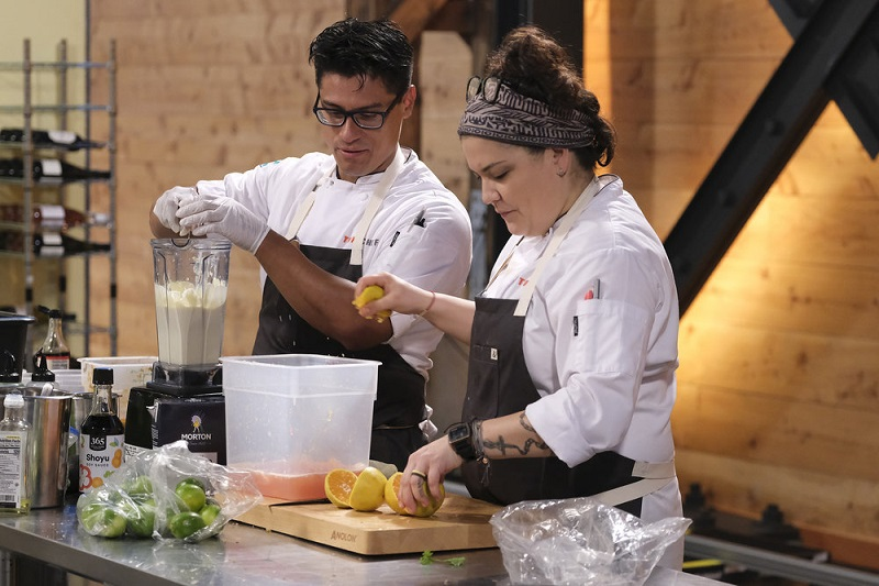 Bryon and Maria prepare for Restaurant Wars, this week on Top Chef.