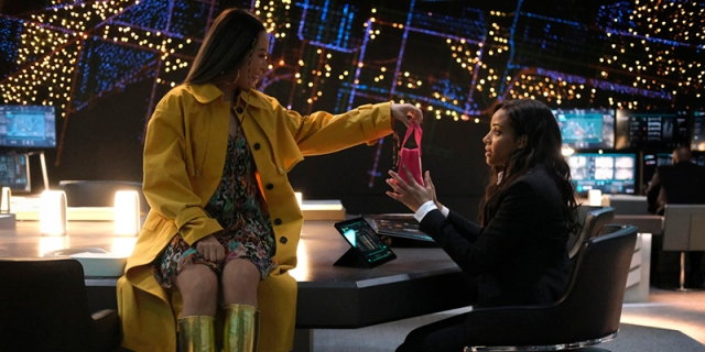 Nicole Kang as Mary Hamilton and Meagan Tandy as Sophie Moore