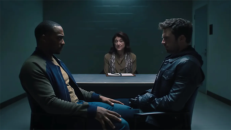 Bucky and Sam in couples counseling