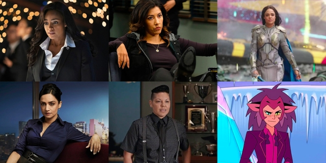 A collage of six characters from the list: Sophie Moore, Rosa Diaz, Valkyrie, Kalinda Sharma, Kat Sandoval, and Catra