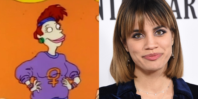 A collage of Betty from Rugrats and also Natalie Morales