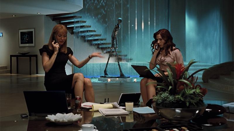 Pepper and Natasha work together in Iron Man 2