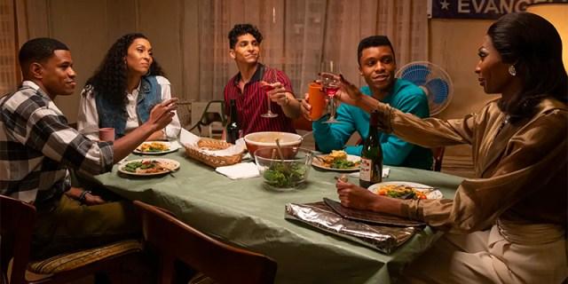 Pose recap: Elektra's family toasting her at dinner