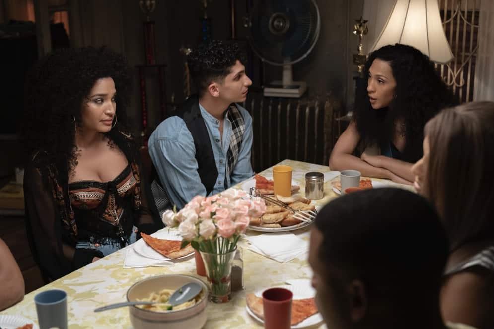 Pose: Indya Moore as Angel, Mj Rodriguez as Blanca.