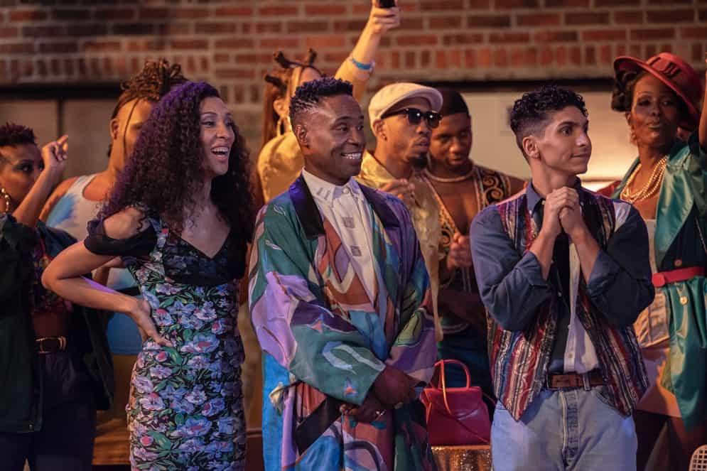Pose: Mj Rodriguez as Blanca, Billy Porter as Pray Tell, Angel Bismark Curiel as Lil Papi.