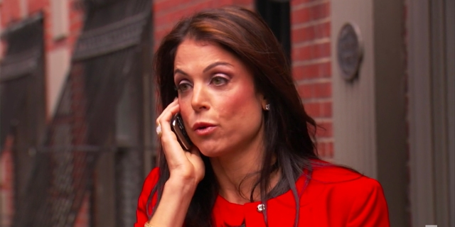 Bethenny Frankel talks on the phone on Real Housewives of New York