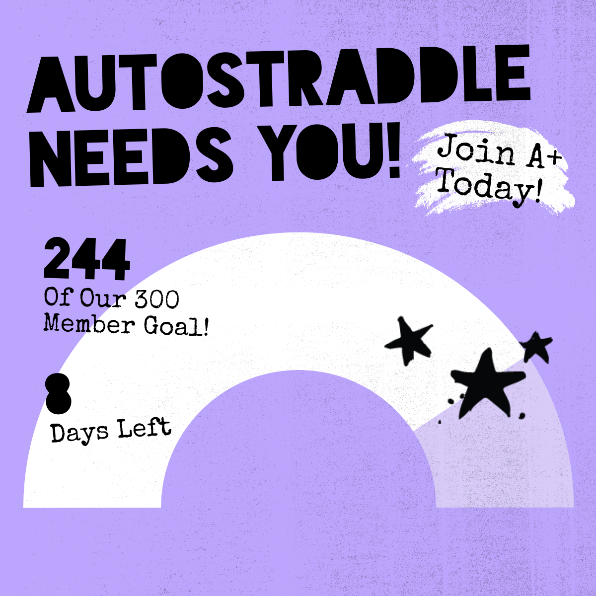 Autostraddle Needs You! Join A+ Today! 244 of our 300 Member Goal! 8 Days Left