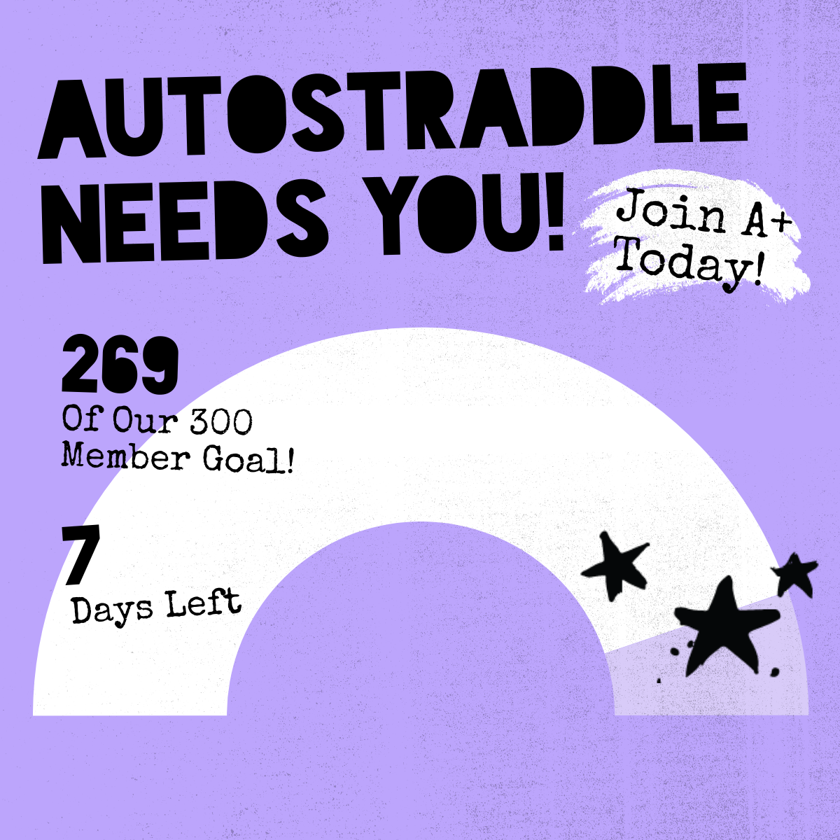 Autostraddle Needs You! 269 of our 300 member goal! 7 days left. Join A+ Today!