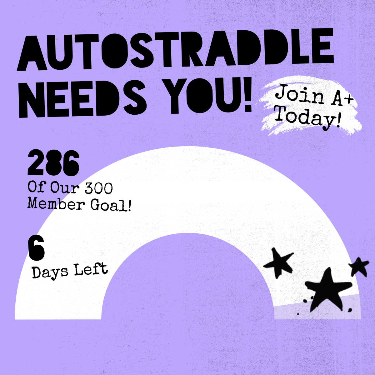 Autostraddle Needs You! Join A+ Today! 286 of our 300 Member Goal! 6 Days Left