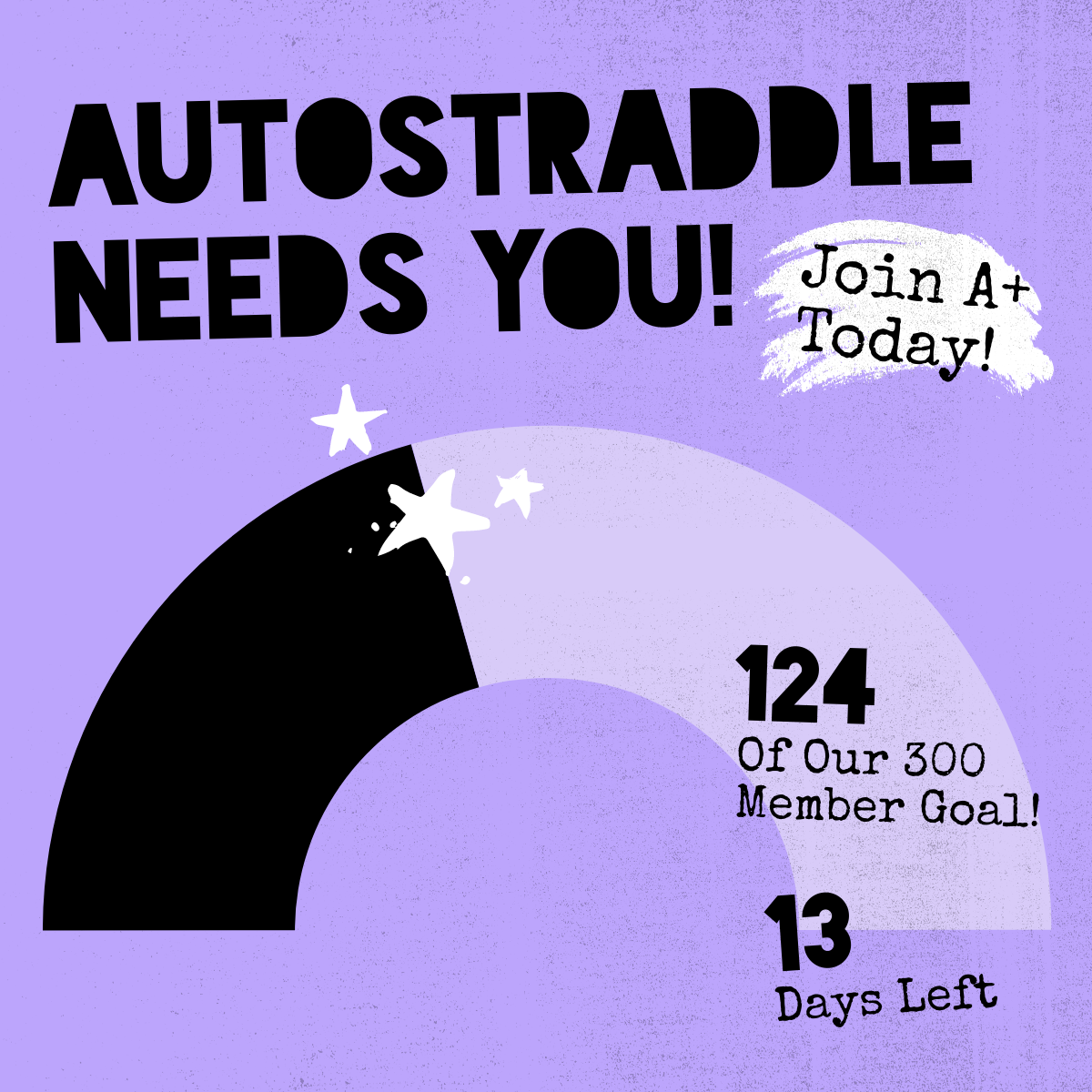 Autostraddle Needs You! Join A+ Today! 124 of our 300 Member Goal! 13 Days Left