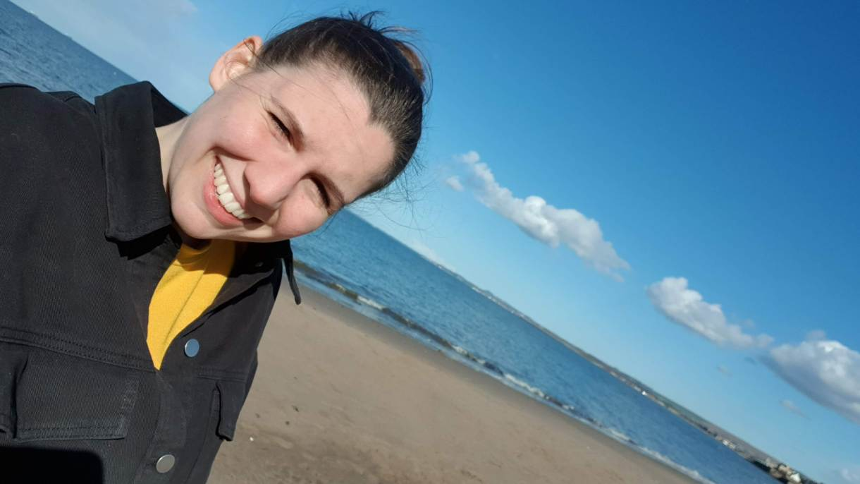 Ellen at the ocean