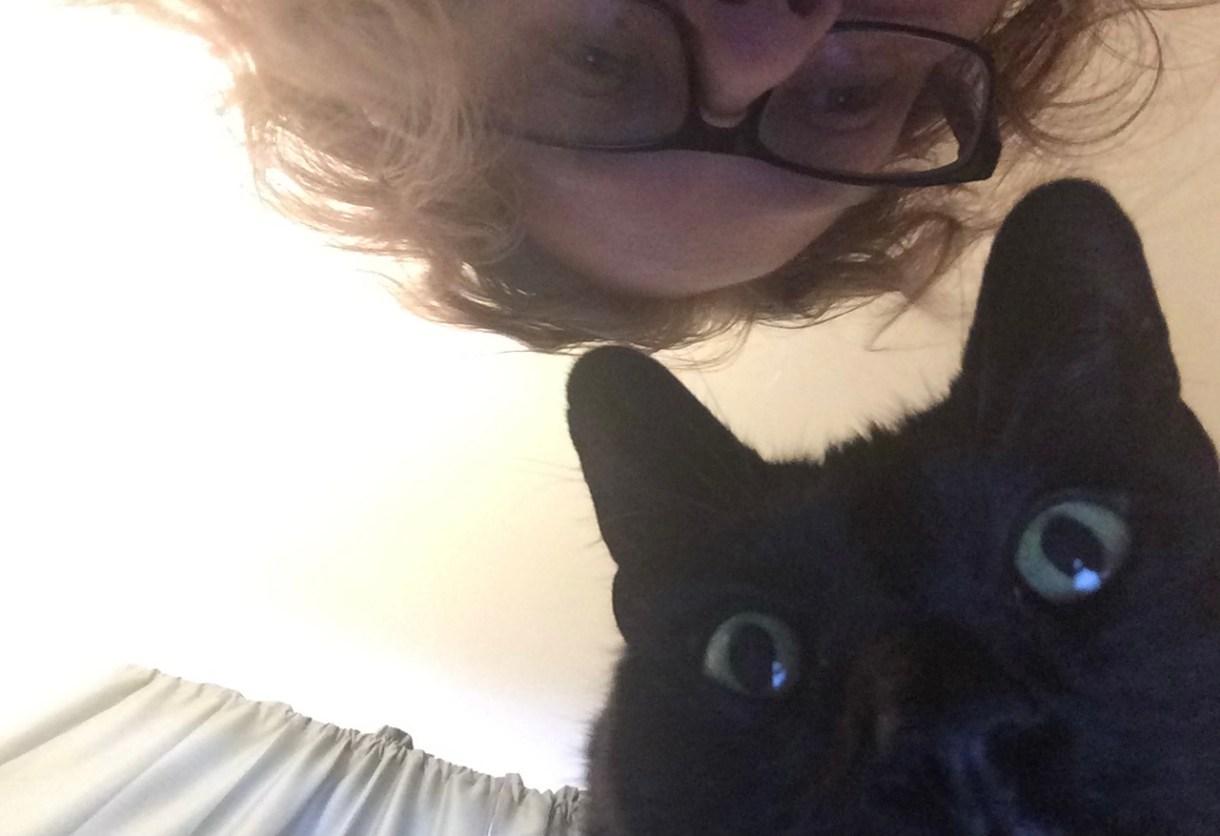 Joanna with cat