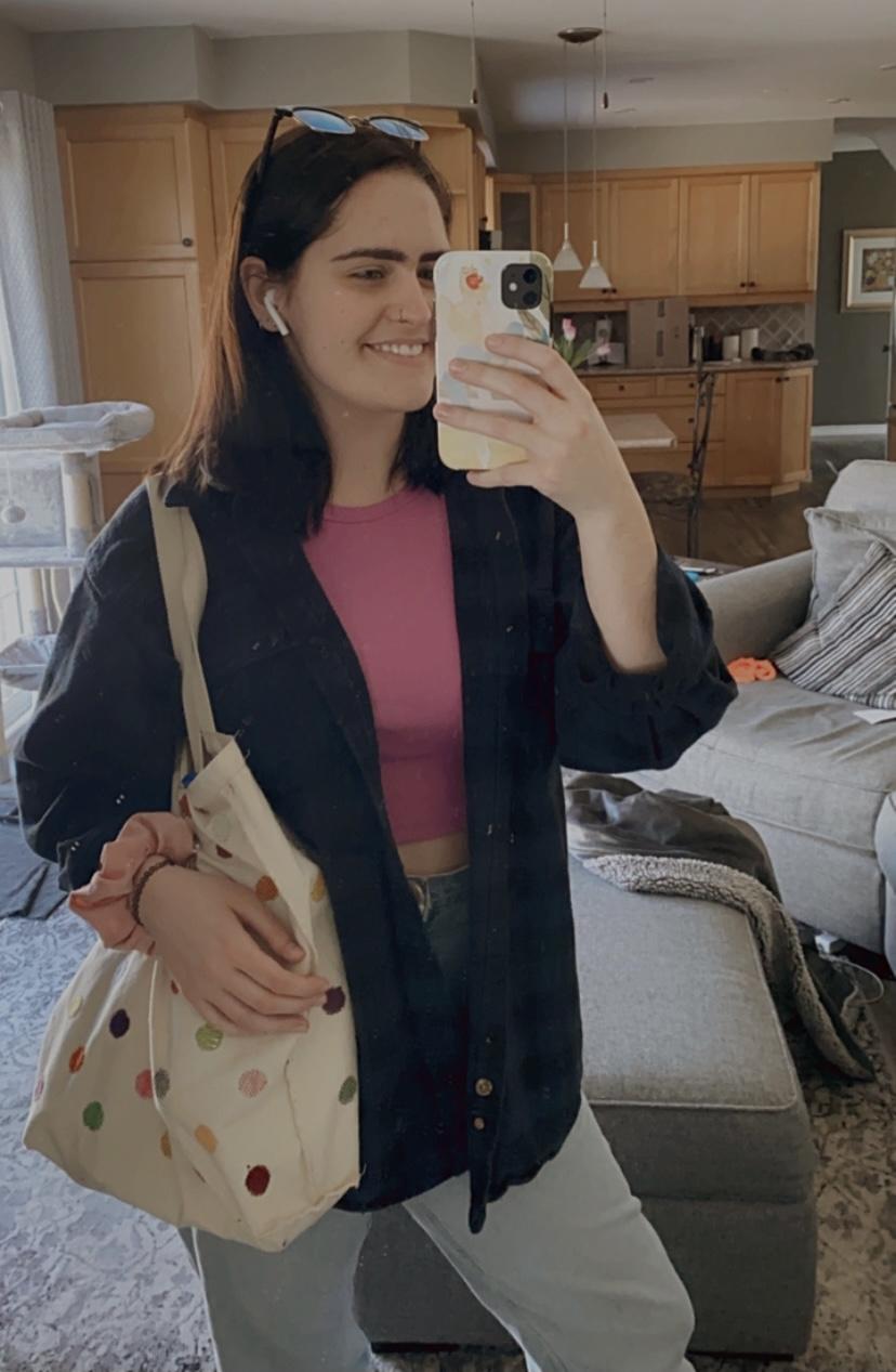 Erin taking a mirror selfie