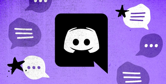 the discord logo against a purple background with chat bubbles
