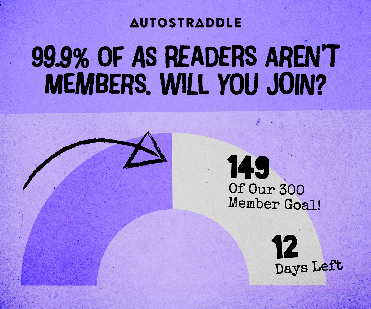 An arc showing the progress of the drive. 99.9% of AS Readers Aren't Members. Will You Join? 149 of our 300 Member Goal! 12 days left