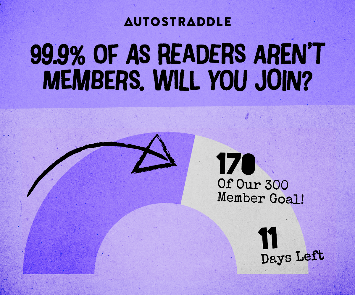 An arc showing the progress of the drive. 99.9% of AS Readers Aren't Members. Will You Join? 170 of our 300 Member Goal! 11 Days Left