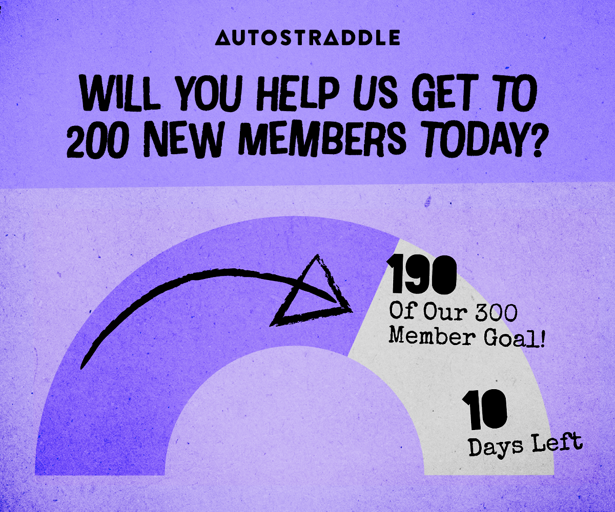 An arc showing progress of the drive. Text reads: 190 of our 300 Member Goal! 10 days left. Will You Help Us Get To 200 New Members Today?