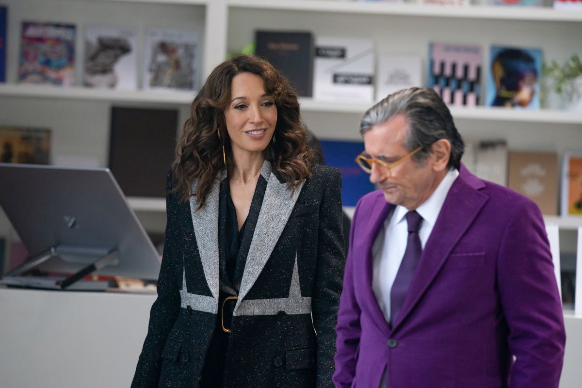 """(L-R): Jennifer Beals as Bette and Griffin Dunne as Isaac Zakarian in THE L WORD: GENERATION Q """"Late to the Party"""""""