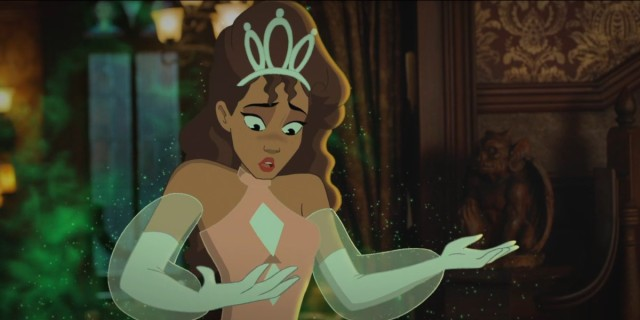 Legends of Tomorrow episode 605: Cartoon Astra looks surprised she got turned into a Disney princess.