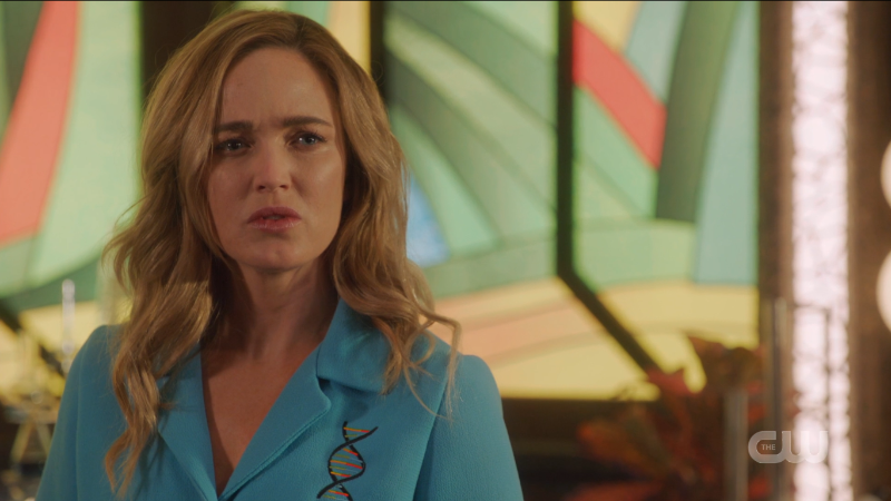 Legends of Tomorrow recap: Sara looks annoyed with Bishop.
