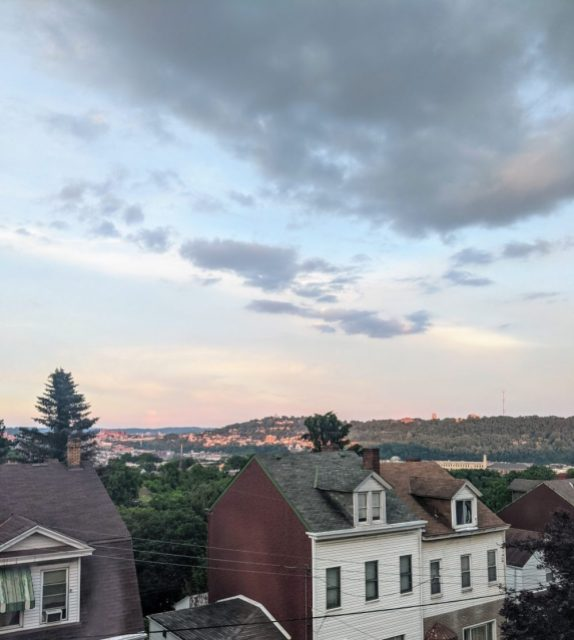 a view from Nicole's bedroom window of Pittsburgh