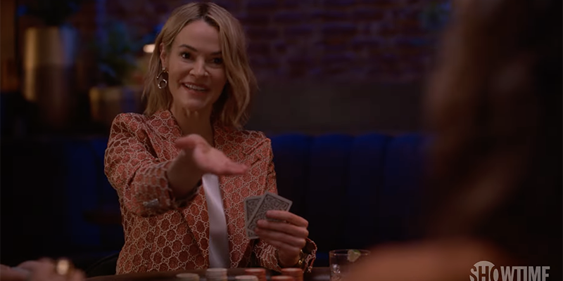 The L Word Generation Q Season 2 Trailer: Alice holds out her hand and offers advice to Bette while playing poker at Dana's