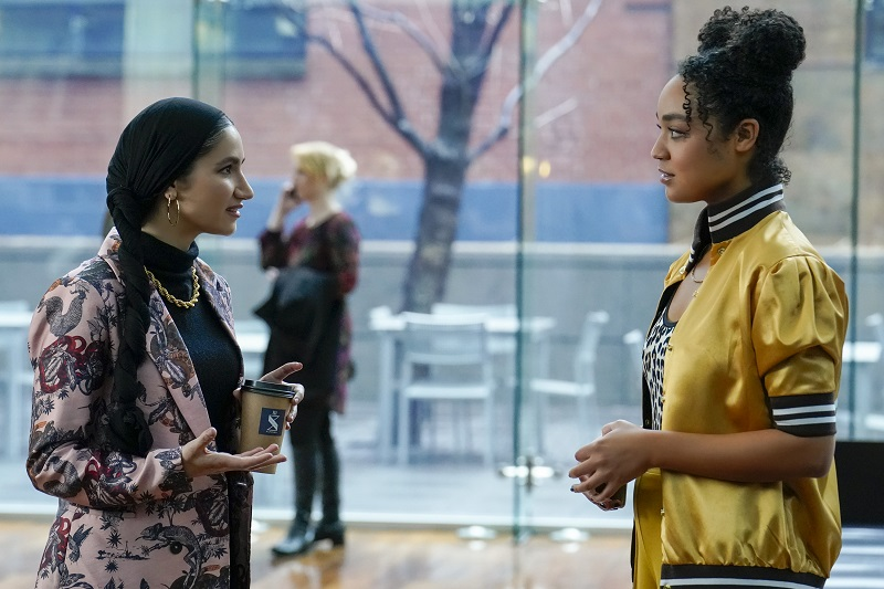 """Kat and Adena meet for coffee to discuss the next steps in launching their magazine, this week on """"The Bold Type."""""""