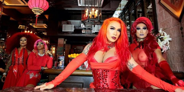 Drag performers liven up the crowd at Petticoat Lane, an LGBT bar in Hong Kong.