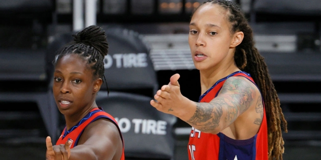 Olympics women's basketball gay players chelsea gray and brittney griner