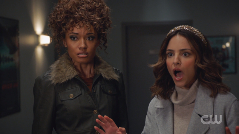 Astra looks angry and Zari looks appalled