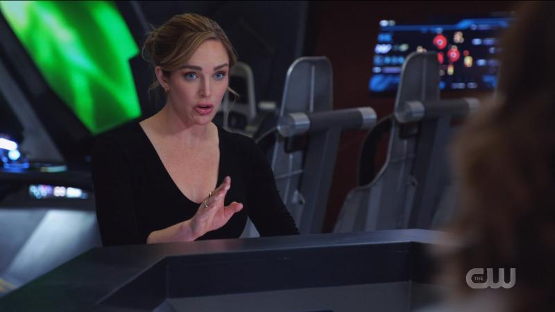 Sara looks like she's giving orders