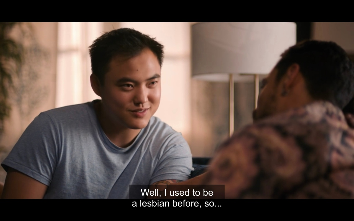 """Micah talking to Jose saying 'Well I used to be a lesbian before, so..."""""""