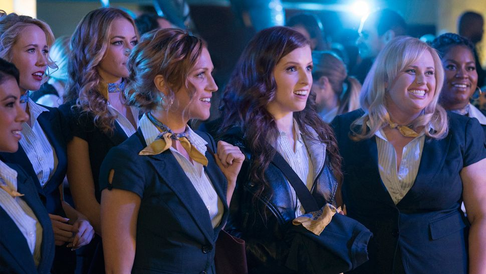 A still of the Belles at competition from Pitch Perfect 3