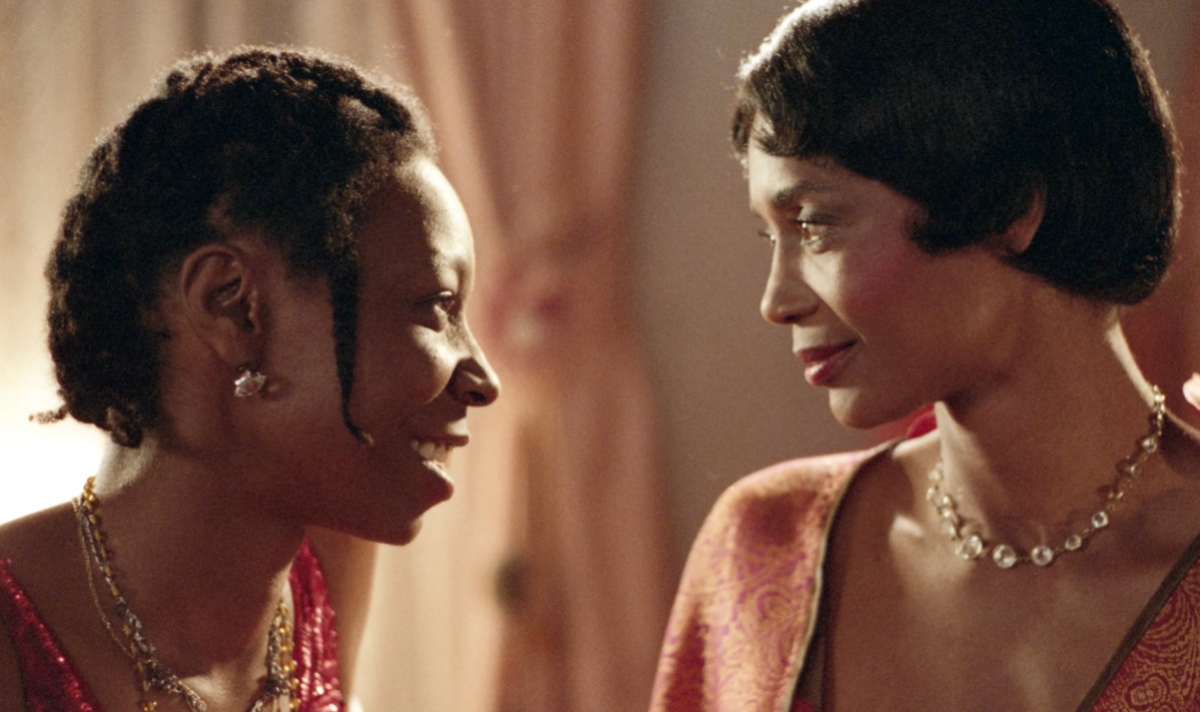"""A still from """"The Color Purple"""" of Shug and Celie"""