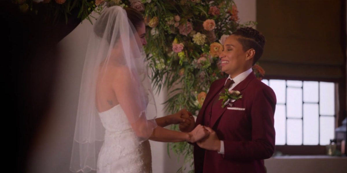 Dani and Sophie at the altar