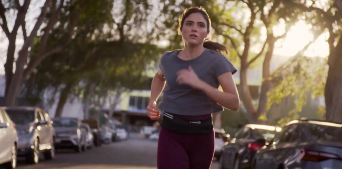 Dani running outside