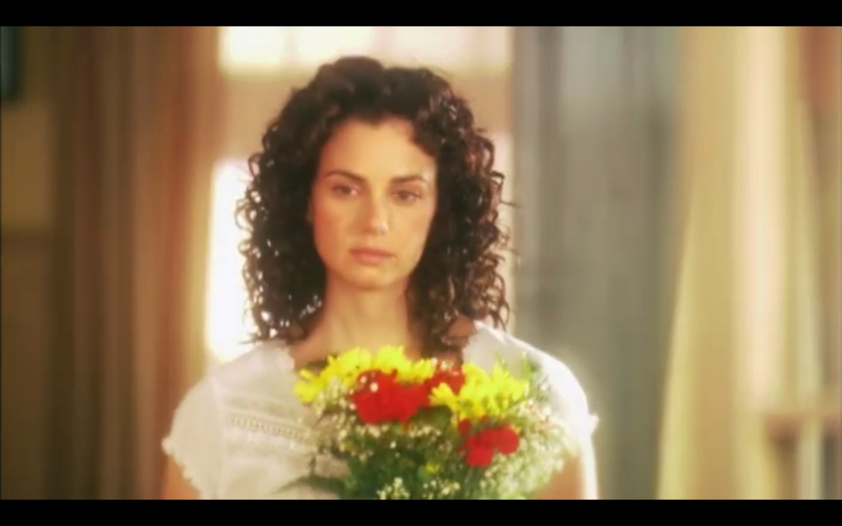 Jenny Schecter with flowers