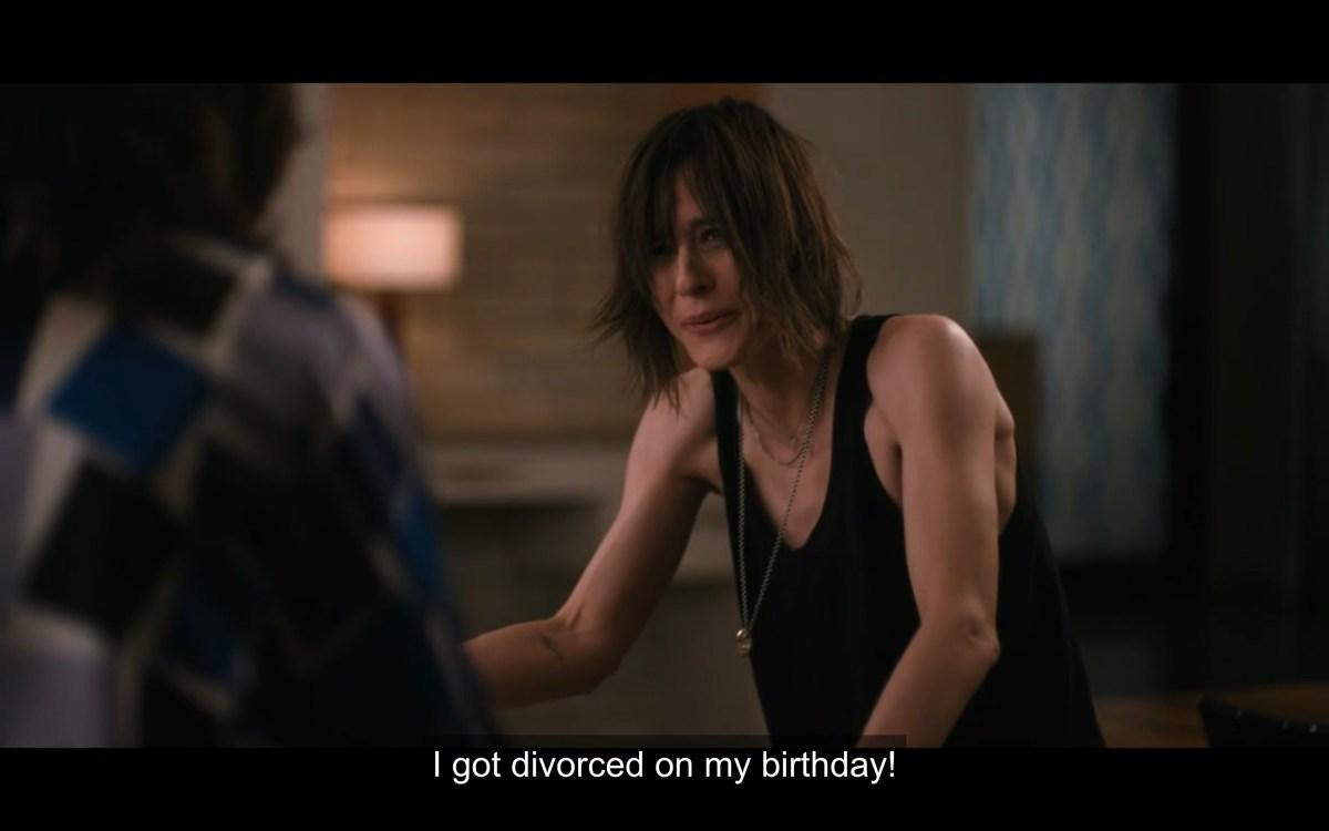 """Shane saying """"I got divorced on my birthday!"""""""