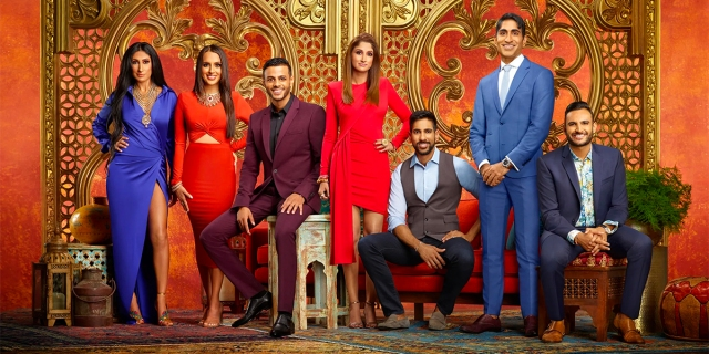 The cast of Family Karma which follows several desi families in Miami;